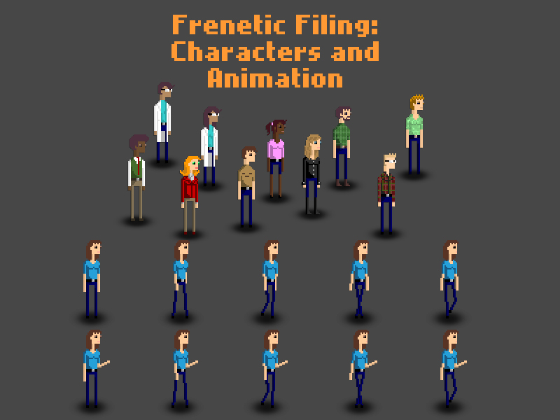 Frenetic Filing Character Designs and Animation